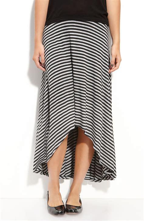 wallpapher scoop back midi maxi skirt juniors in black