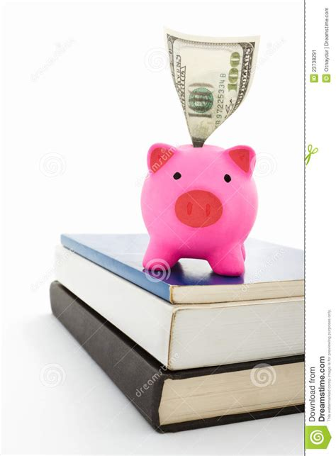 book piggy bank piggy bank and book stock image image 23738291