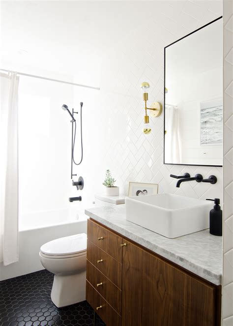 black bathroom lighting black white walnut bathroom with black faucet brass