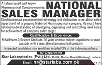 National Sales Managers by National Sales Managers Required Paperpk