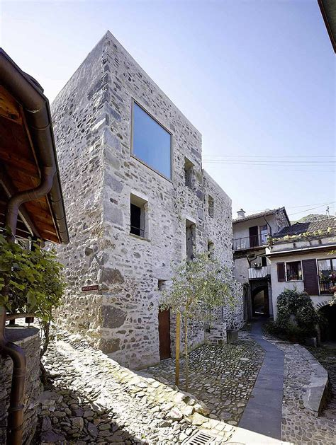 stone house renovation historic stone house in switzerland by wespi de meuron romeo
