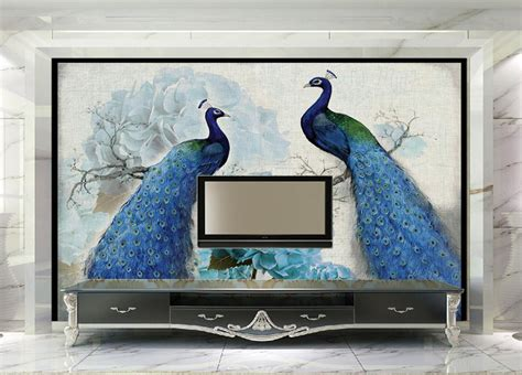 Lukisan Wall Painting Wall Decor Hiasan Dinding 1 get cheap peacock wall murals aliexpress alibaba