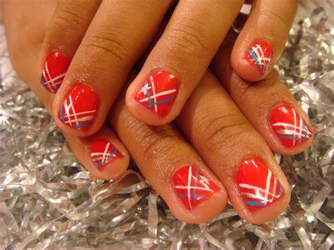 red acrylic 4th of july nils acrylic patriotic nails nails acrylic