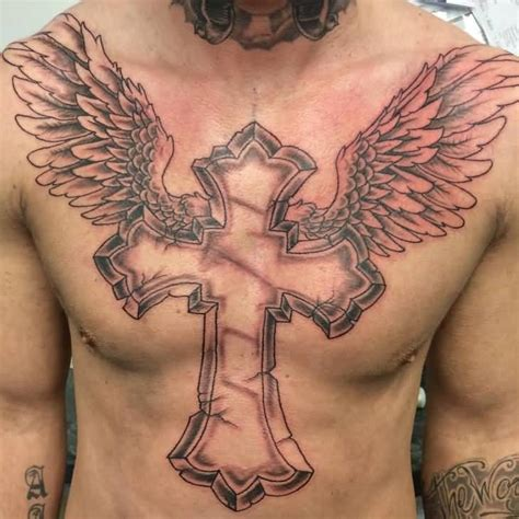 cross with halo tattoo 50 most amazing wings designs with meanings