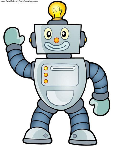 robot template free robot birthday printables