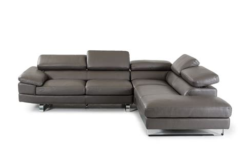 italian sectional sofas online violetta grey italian leather modern sectional adjustable