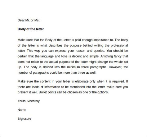 professional cover letter template professional cover letter template 10 free