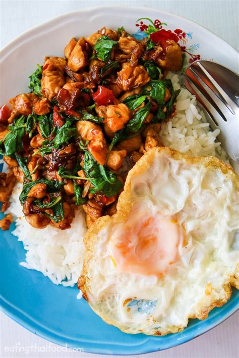 authentic thai basil chicken recipe ผ ดกระเพราไก