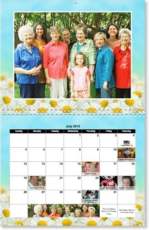 make family calendar family reunion photo calendars