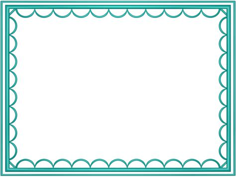 border images aqua artistic loop rectangular powerpoint border 3d borders