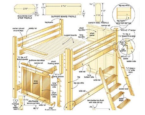 Parts Of A Bunk Bed Loft Bed Plans Differ From Bunk Bed Plans