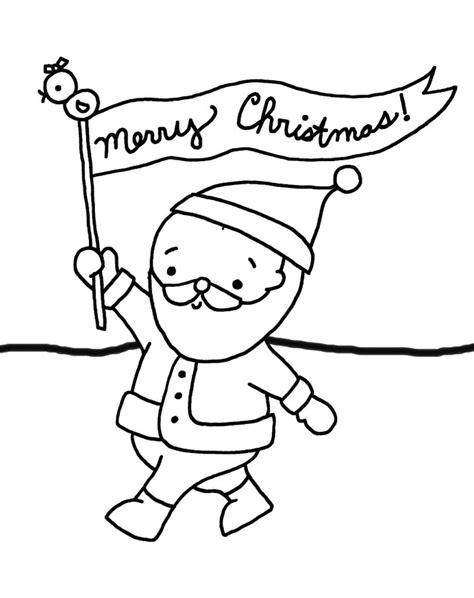 coloring pages santa say merry christmas coloring pages