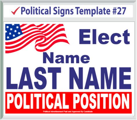 political signs templates political signs