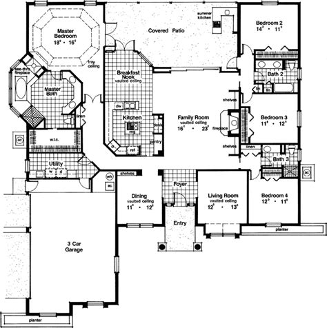 monster home plans mediterranean style house plans 2953 square foot home
