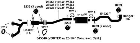 chevrolet pickup  exhaust diagram    auto parts