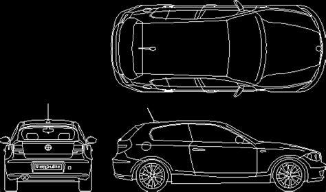 bmw car dwg block  autocad designs cad
