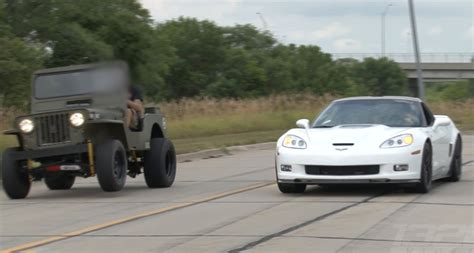 willys jeep lsx zr 1 corvette vs lsx willy s jeep youtube