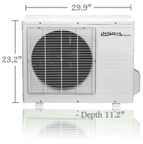 mini window air conditioner dimensions innova inc products 18 000 btu innova ductless mini