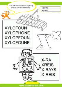 7 circle the correct spelling of x words