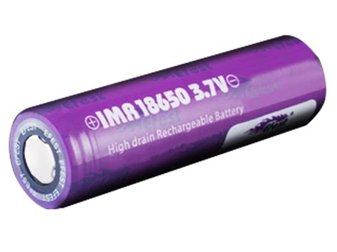 Efest Purple Imr 18650 Li Mn Battery 2100mah 37v 30a With Button Top efest purple 18650 flat top 3 7v high drain battery limn