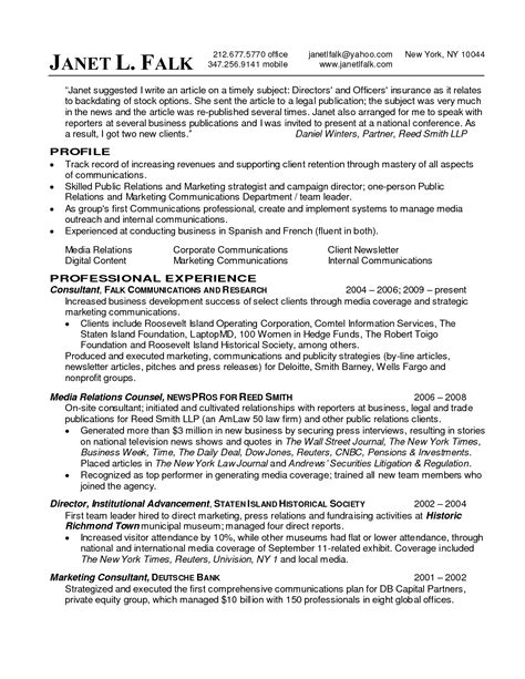 Pr Resume by Relations Resume Best Template Collection