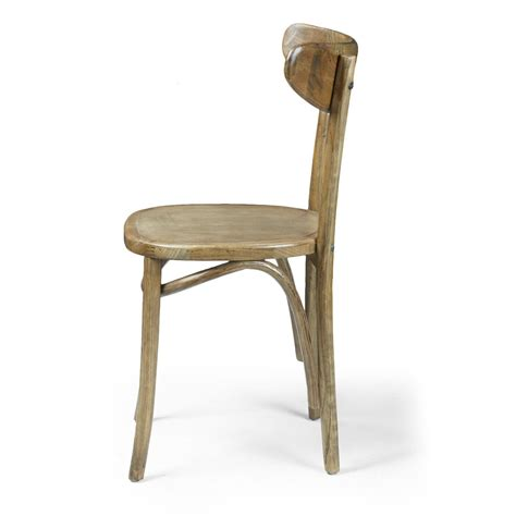 Simple Dining Chair Adeco Elm Wood Simple Vintage Style Dining Chair With Horizontal Scoop Back Set Of Two Ch0126