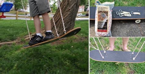 how to make a skateboard swing diy skateboard swing home design garden architecture