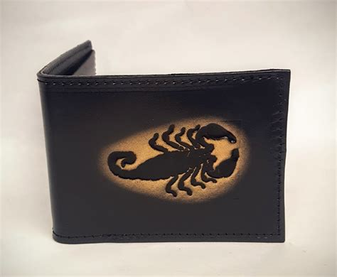 Handmade Leather Wallets Made In Usa - scorpion embossed bifold leather wallet leather belts usa