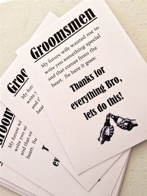 Groomsmen Thank You Cards Template by Posts Gifts And Thank You Tags On