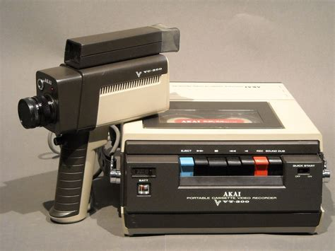 cassette videocamera akai vt 300 portable black and white cassette recorder and