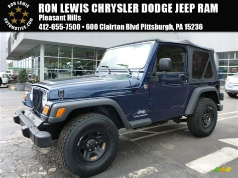 patriot blue jeep wrangler 2005 patriot blue pearl jeep wrangler se 4x4 103460629