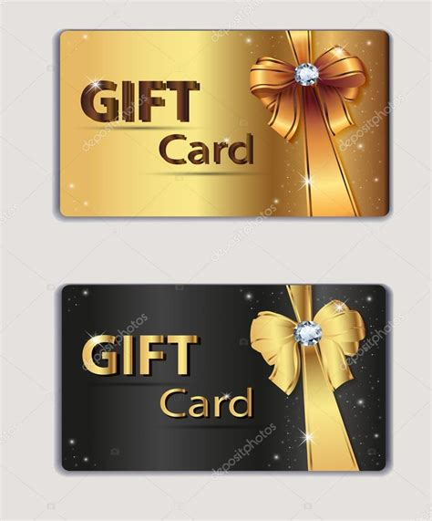 gift coupon gift card discount card business card gold and black bow ribbon - Gift Cards Coupon