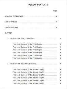 table of contents 22 free word pdf documents