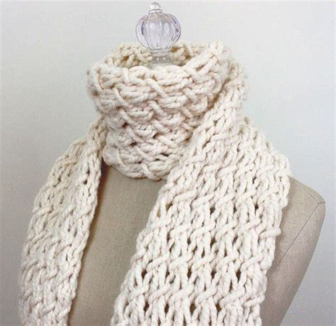 thick knitting stitches phydeaux twist chunky scarf knitting pattern