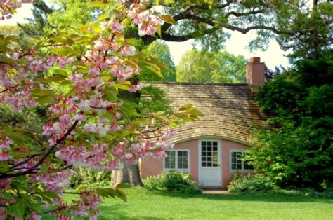 beautiful cherry cottage wallpaper widescreen full