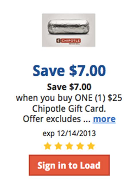 Chipotle Buy 25 Gift Card - kroger deal get 25 chipotle gift card for 18 southern savers