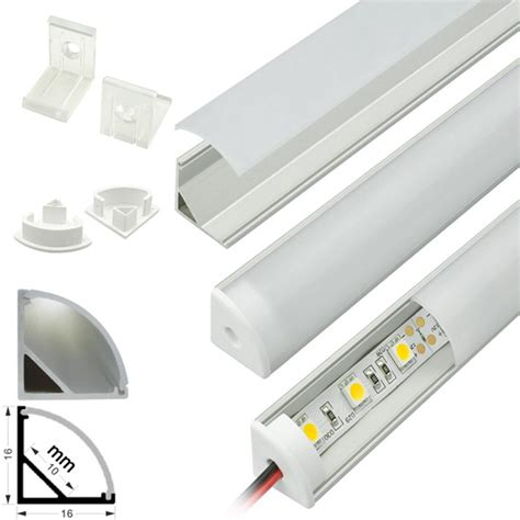 led strip light channel aluminum profile housing for strip light surface mount