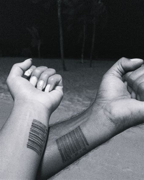 barcode tattoo couple 30 perfect matching his and hers tattoos