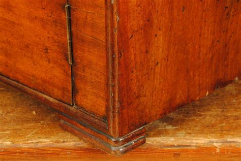 Shallow Console Cabinet by Interesting Louis Philippe Period Shallow Console Cabinet