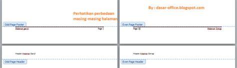 cara membuat halaman footer pada word cara membuat header footer berbeda antara halaman ganjil