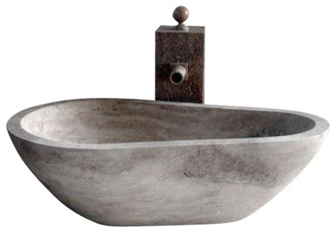 freestanding stone bathtubs piedra pavo free standing bathtub in hand carved stone