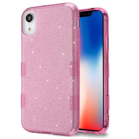 sale tuff glitter hybrid protective for iphone xr pink hd accessory
