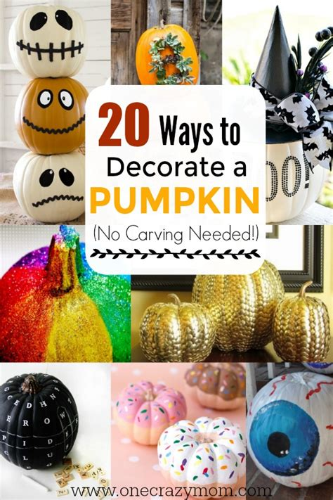 How To Decorate A Pumpkin by How To Decorate A Pumpkin Without Carving It 20 Easy Ideas