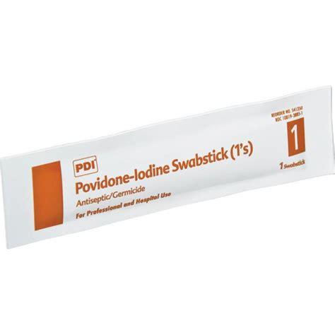 Betadine Stick povidone iodine swabsticks pdi inc npks41350povidone