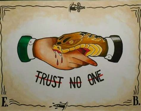 trust no one tattoo drawing