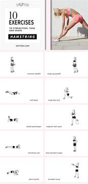 at home hamstring workout to strengthen tone shape the