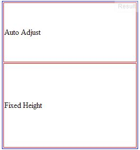 auto layout fixed height html how to auto adjust div height according to next