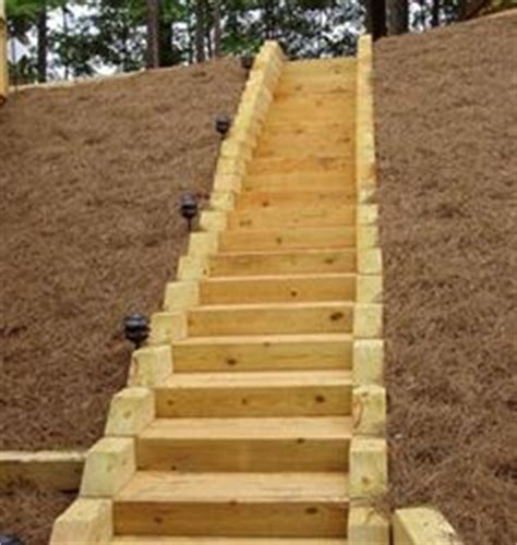 Installing Landscape Timbers On A Slope Treated Timber Capital City And Landscaping On
