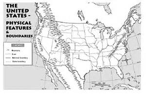 outline map of the us physical features boundaries