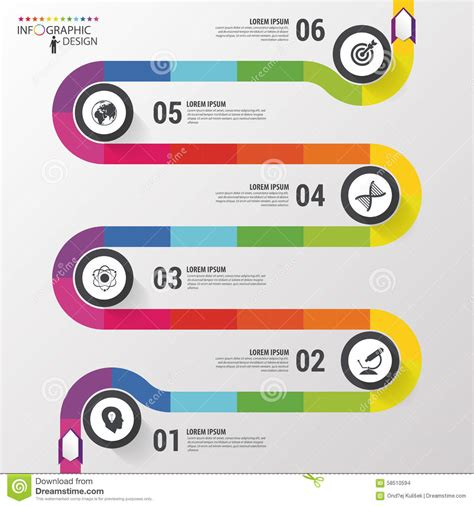 Road Business Timeline Infographic Template Vector Illustration Vector Illustration Career Infographic Template